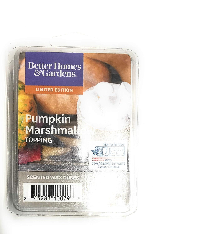 Better Homes /& Gardens Pumpkin Marshmallow Topping 2018 Limited Edition Wax Cubes