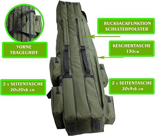 3 Kammer 150-190cm WITAN Rutenfutteral PREMIUM RUTENTASCHE Angeltasche 2