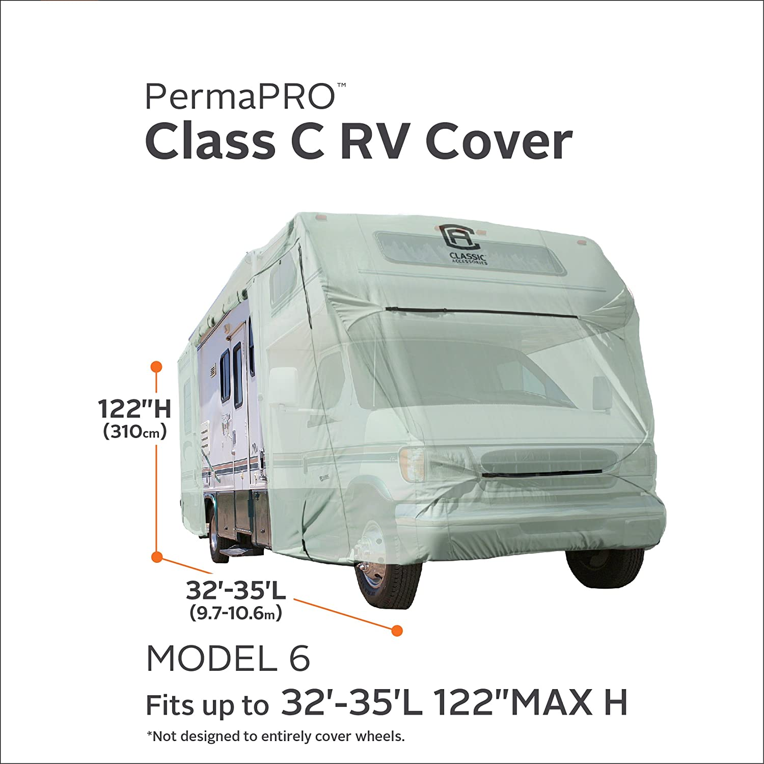 Classic Accessories OverDrive PermaPro Heavy Duty Cover for 29 to 32 Class C RVs