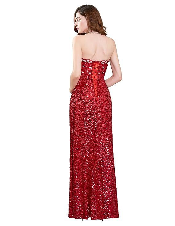 Amazon.com: Grace Karin Women\'s Strapless Sequins Split Ball Gown ...