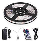 Amazon Price History for:StripSun LED Strip Lights SMD 5050 Waterproof 16.4ft 5M 300leds RGB Color Changing Flexible LED Rope Lights with 44Key Remote +12V 5A Power Supply +IR Control Box