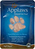 Applaws Cat Food Pouch Tuna and Seabream, 70g, Pack of 12