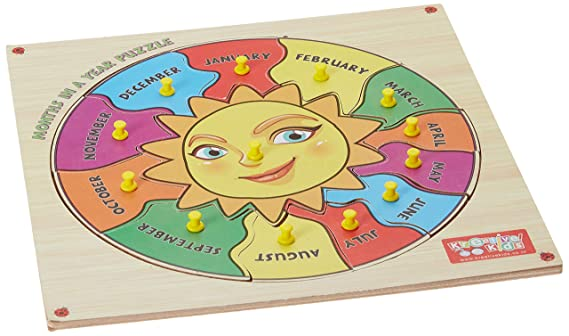 Zitto Premium Wooden Months of Year Educational Puzzle Toy