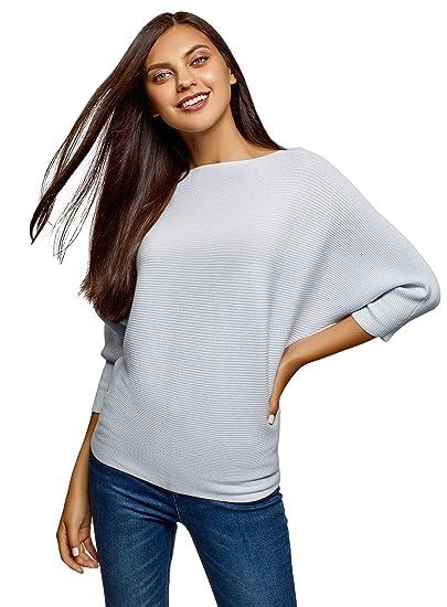 Damen Pullover mit trendigen Fledermausärmeln