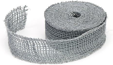 Kel-Toy Jute Burlap Ribbon 4 by 10 yd Silver