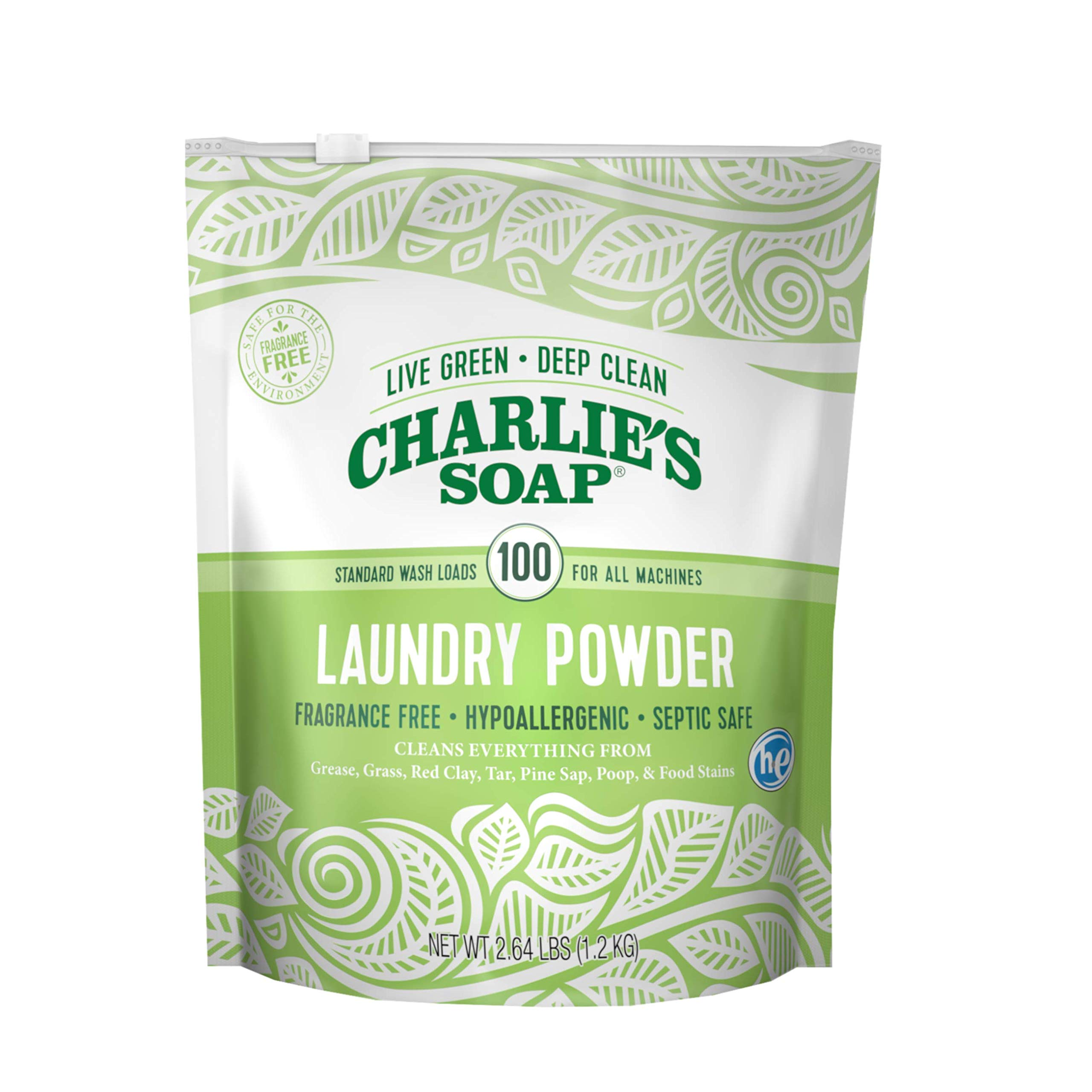 Charlie's Soap Laundry Powder (100 Loads, 1 Pack) Hypoallergenic Deep Cleaning Washing Powder Detergent - Eco-Friendly, Safe, and Effective by Charlie's Soap