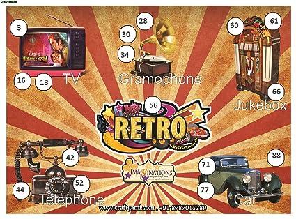 Craftgami - Retro Theme Tambola Tickets - Housie Tickets (24 Tickets)