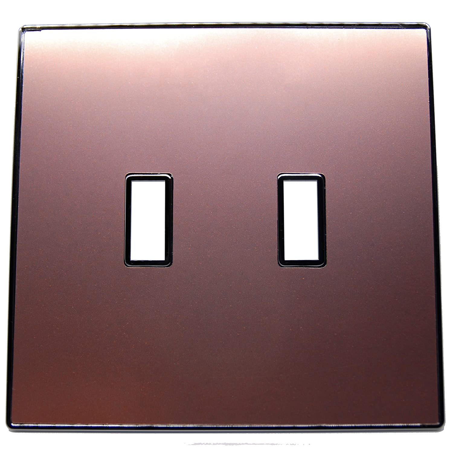 Urban Chameleon Premium 2 Gang Toggle Light Switch Covers Wallplate