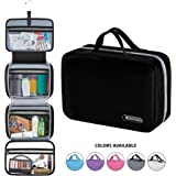 "Hanging Travel Toiletry Bag for Men and Women | Makeup Bag | Cosmetic Bag | Bathroom and Shower Organizer Kit | Leak Proof | Large (34""x11"")"