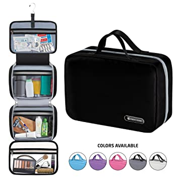23cf11926d5a Hanging Travel Toiletry Bag for Men and Women | Makeup Bag | Cosmetic Bag |  Bathroom and Shower...