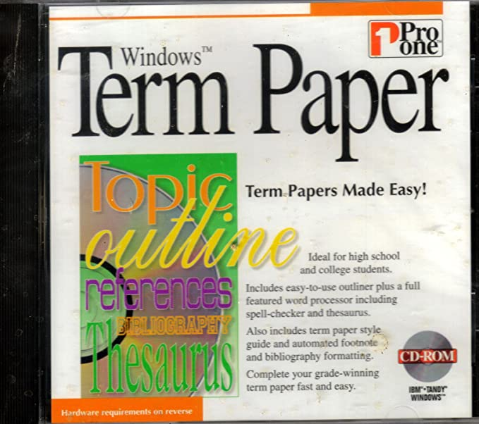 word processor for term paper