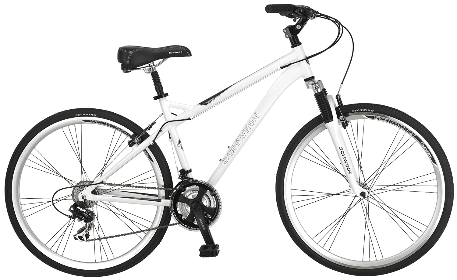 Schwinn Men's Network 3.0 700C Wheel Men's Hybrid Bicycle White, 18' Frame size