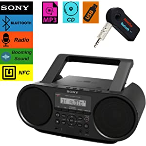Sony Bluetooth Portable Cd Player Stereo Sound System Bundle/Digital Tuner AM/FM Radio