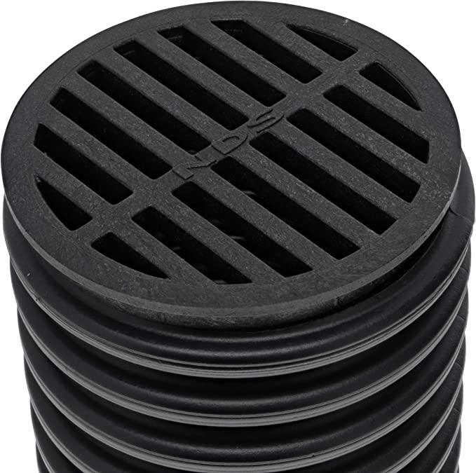 Black Plastic Gully Grid Grate Cover Round 6 150mm Drain Litter Blockage Covers