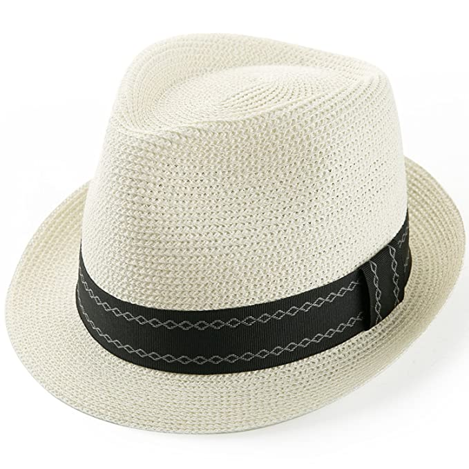 193afe40e Sedancasesa Panama Hat Packable Straw Hats Beach Summer Fedora Sun Cap  Unisex Caps