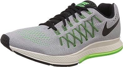 Zoom Air Pegasus 32 del zapato corriente del lobo gris / verde de ...