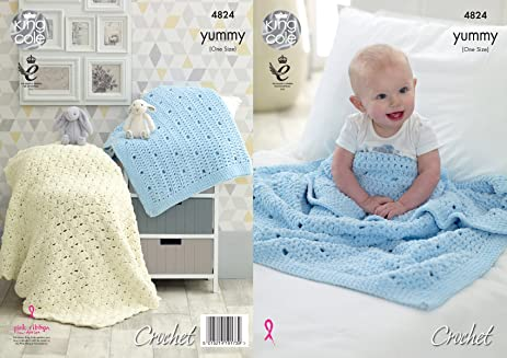 Amazon King Cole Crochet Pattern Baby Textured Or Shell Comfort