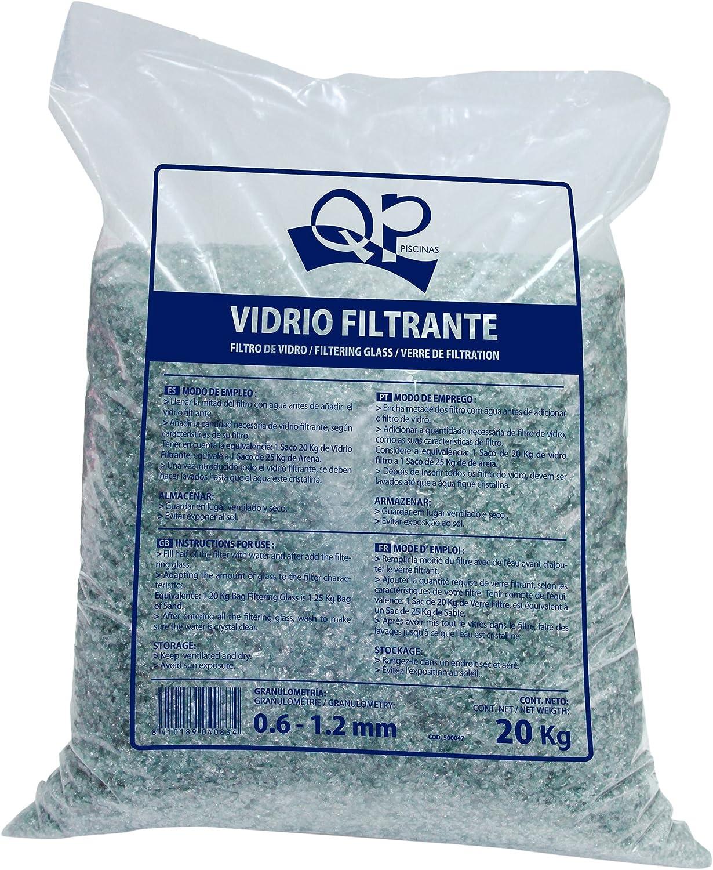 Productos QP Saco de vidrio filtrante para piscinas, 20Kg - QP ...