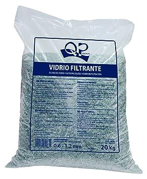 6b334394 Productos QP Saco de vidrio filtrante para piscinas, 20Kg - QP 500047:  Amazon.es: Jardín