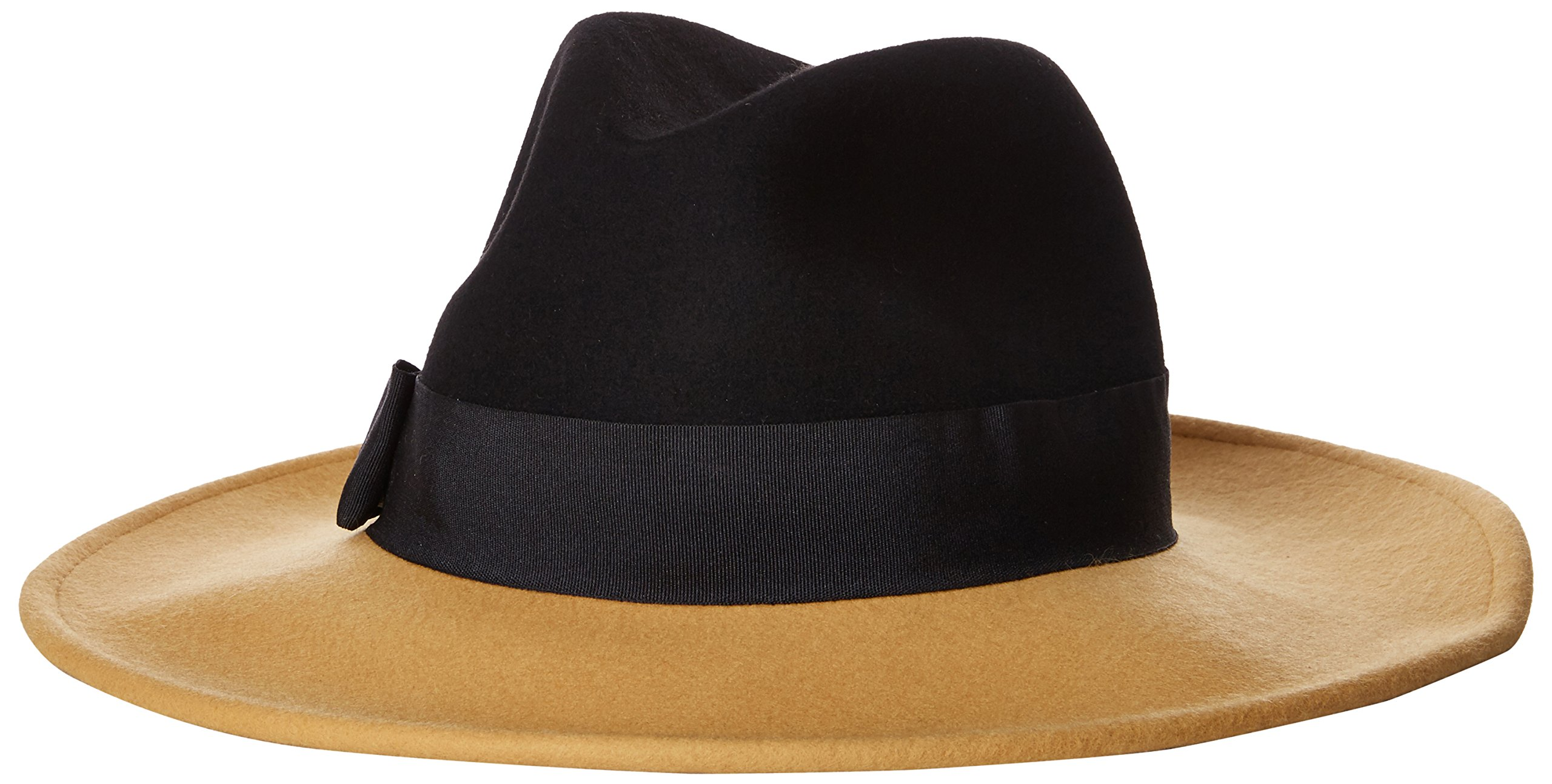 San Diego Hat Company Women's Color Block Fedora Hat, Black, Total Units