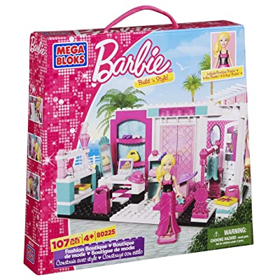 Mega Bloks Barbie Fashion Boutique: Toys & Games
