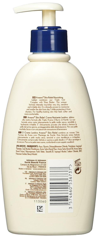 Aveeno Skin Relief Loción hidratante con manteca de karité para 300ml piel seca extremadamente: Amazon.es: Belleza