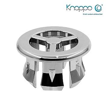 Star Überlauf Abdeckung KNOPPO® SET 3 x Waschbecken Überlauflblenden chrom