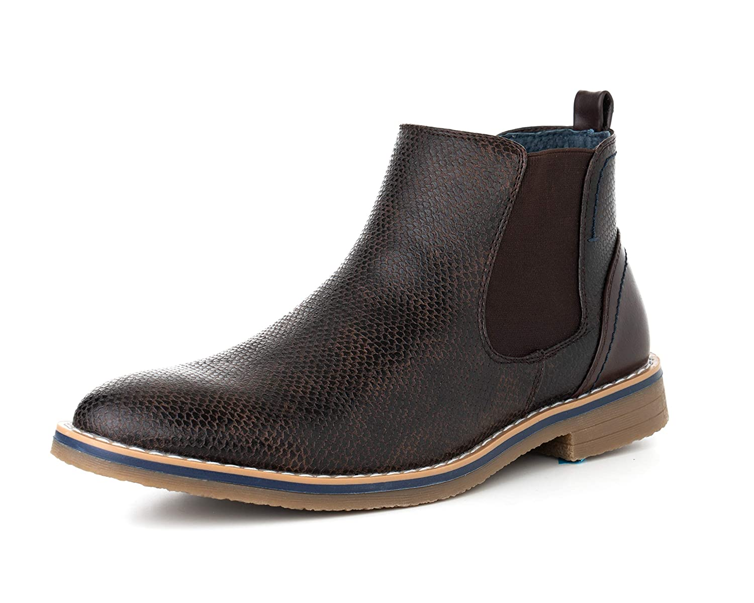 alpine swiss Men s Nash Chelsea Boots Snakeskin Ankle Boot Genuine Leather  Lined By Alpine Swiss 155b4688922e