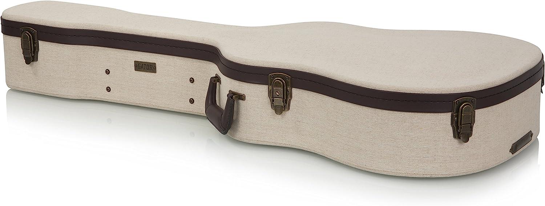 Gator Cases GW-JM-DREAD - Estuche de Guitarra acorazado, Beige: Amazon.es: Instrumentos musicales