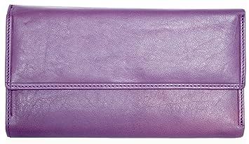 e2c9c23399438 Damen Lila Große Italienische Qualität Leder Portemonnaie - Brieftasche  Giglio Fiorentino