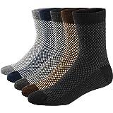 Ueither 5 Pares de Calcetines de Lana Tejida Gruesa Cálida y Suave para Invierno y Otoño de Estilo Antiguo para Hombres