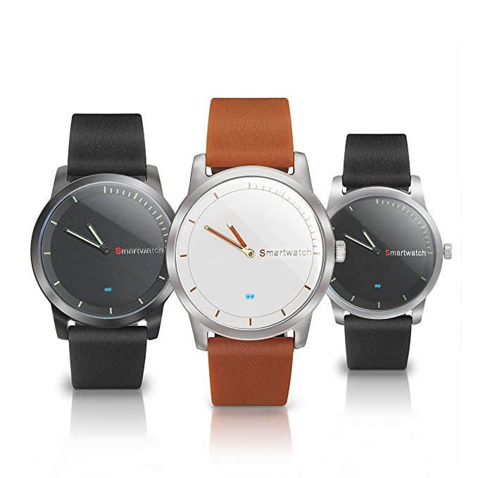 Smartwatch analógico Compatible con Android/iOS waterporoofIP67 Color Terracota: Amazon.es: Electrónica