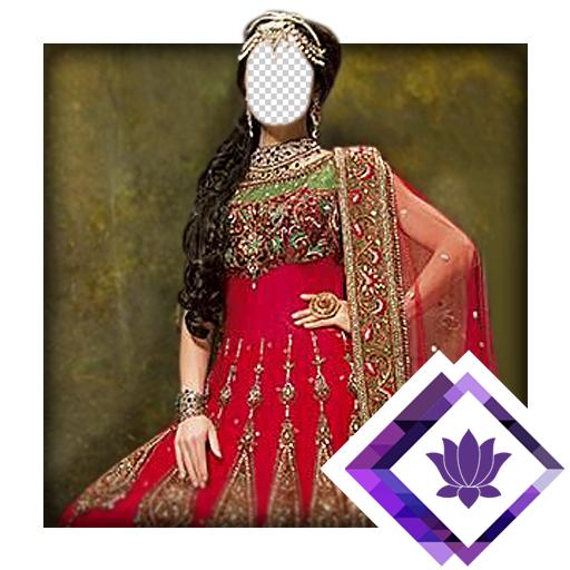 Idea Fancy Dress (Anarkali Bridal Photo Montage)