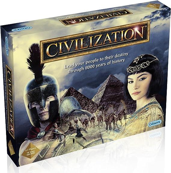 Gibsons G984 Civilization - Juego de Mesa, Decide el Destino de tu Pueblo a través de 8000 años de Historia, versión Inglesa: Amazon.es: Juguetes y juegos