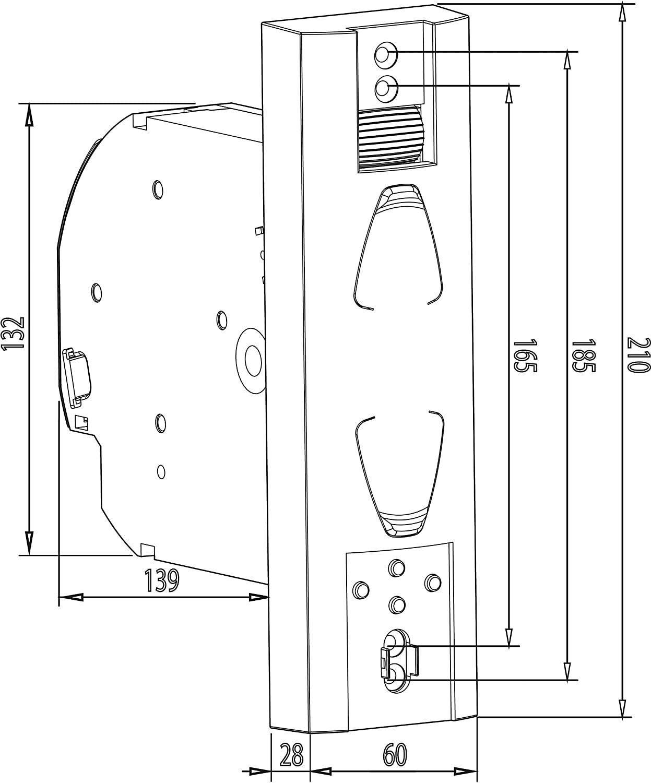 Super persiana gw190 roll cargar-gurtwickler by Rademacher eléctrico