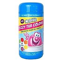 Mr. Bubble Fizzy Tub Colors, Assorted Bathwater Colors, 150 Ct