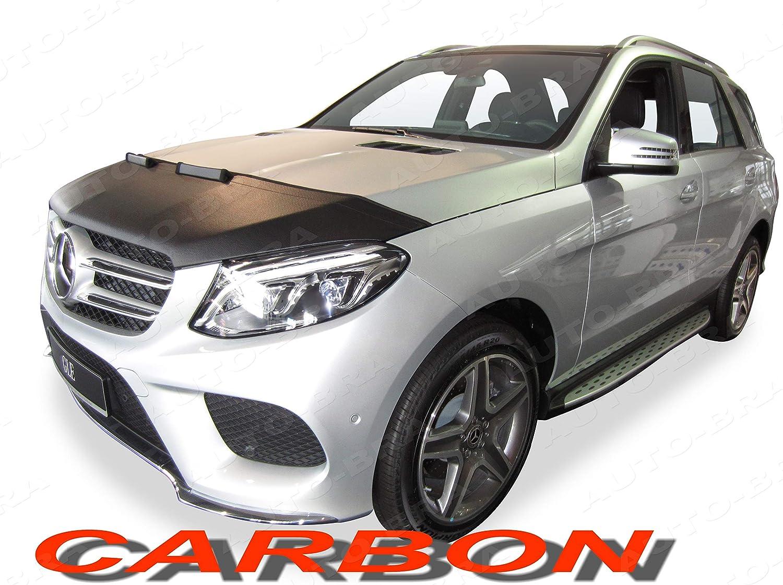 AB3-00381 CARBON OPTIK Bonnet BRA f/ür GLE W166 2015-2018 Haubenbra Steinschlagschutz Tuning