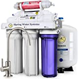 iSpring RCC7AK High Capacity Under Sink 6-Stage Reverse Osmosis Drinking Water Filtration System with Alkaline Remineralization - WQA Gold Seal Certified (NSF/ANSI 58)