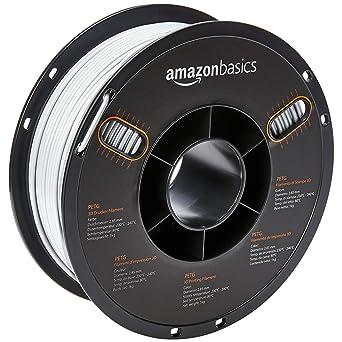 AmazonBasics – Filamento de PETG para impresora 3D, 2,85 mm, Blanco, 1 kg por bobina