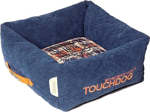 touchdog Exquisite-Wuff Posh Rectangular Diamond Stitched Fleece Plaid Dog Bed