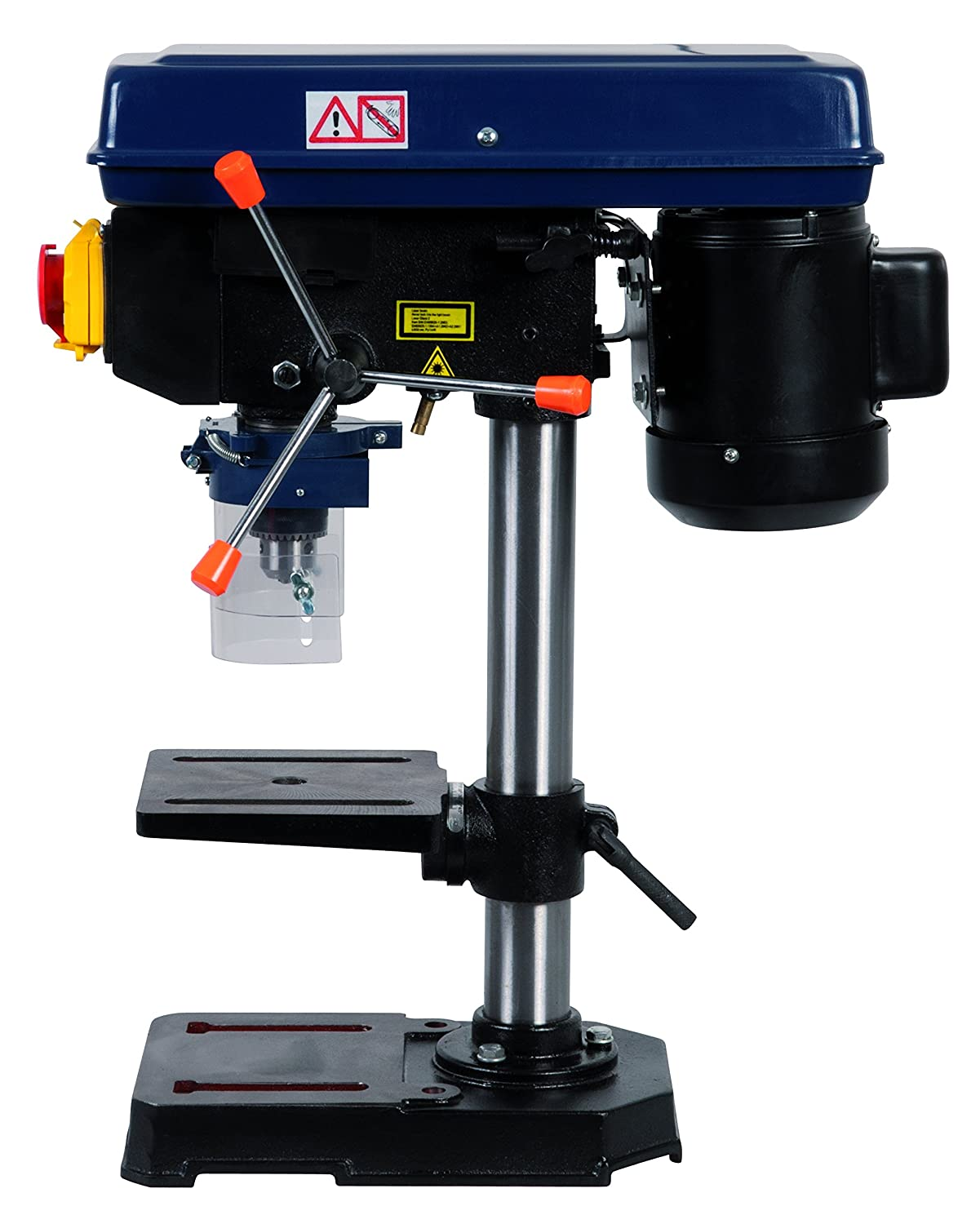 FERM TDM1025 Bench Pillar Drill - Drill Press Table - 350W - Laser Guidance - 5 Speed