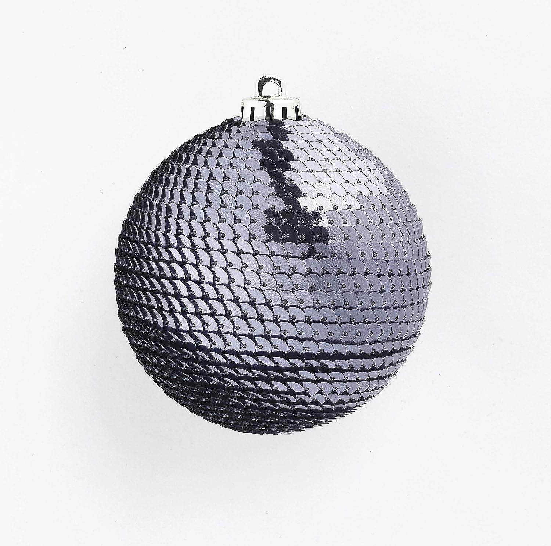 60 mm CREOFANT 9 Bolas de Lentejuelas Brillantes para /árbol de Navidad marr/ón Bolas de Navidad con dise/ño de Bolas de pl/ástico irrompibles