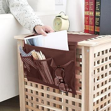 Amazon Com Bedside Pocket Caddy 4 Pocket Hanging Bunk Bed Desk Sofa