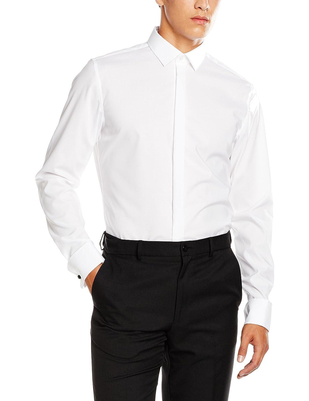 TALLA 45 cm. Seidensticker Modern Kent Party, Camisa para Hombre