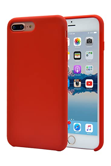 huge selection of adf7a 3e1ea Alphacell iPhone 8 Plus/7 Plus (Only) Silicone Case | Soft Slim Gel Rubber  | Protective Phone Cover with Microfiber Lining for Apple iPhone 8 Plus and  ...