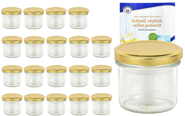 100 Rundglaser 65 Ml Honig Marmeladenglaser Einmachglaser Incl
