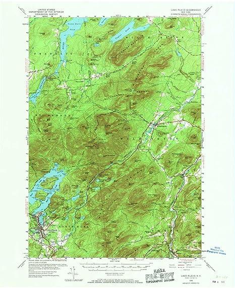 Lake Placid New York Map.Amazon Com Yellowmaps Lake Placid Ny Topo Map 1 62500 Scale 15 X