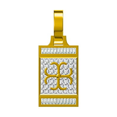 Ashley Jewels Simulated Diamond Studded Elegant Fashion Charm Pendant Necklace in 14K White Gold Plated With Box Chain