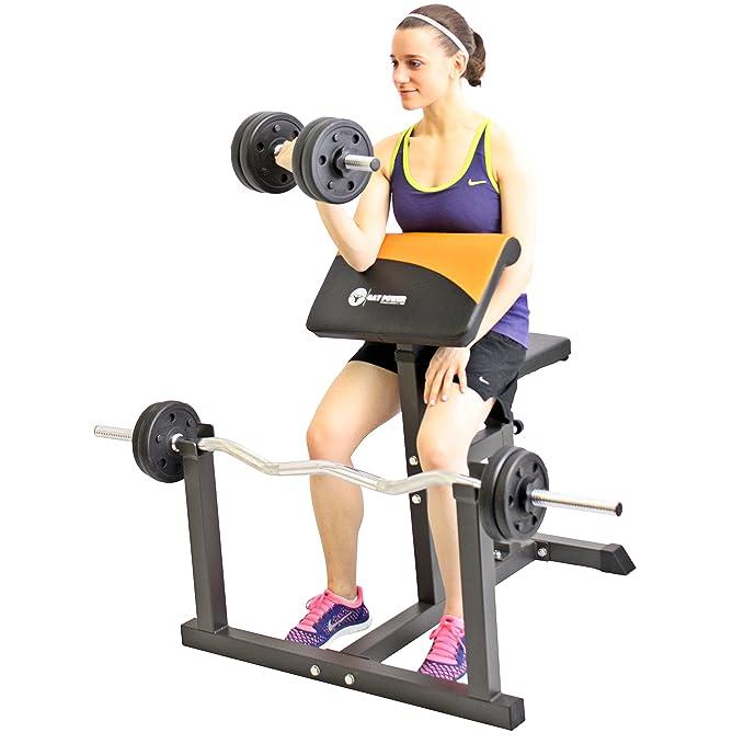 GAT POWER Curl Banco Púlpito - Banco de entrenamiento para ejercicios de bíceps y tríceps Ejercicios bíceps Banco de Scott: Amazon.es: Deportes y aire libre