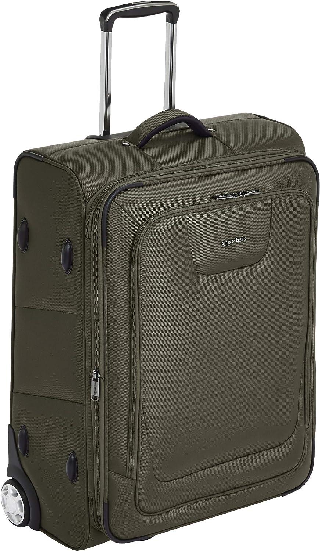 AmazonBasics – Maleta blanda expansible con candado TSA y ruedas, 66 cm, verde oliva